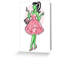 Pin Up Bride of Frankenstein Greeting Card