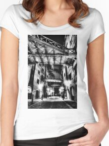 Butlers Wharf London Women's Fitted Scoop T-Shirt