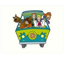 Scooby Doo Cartoon Funny 3 Art Print