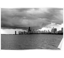 Looming Storm Over Chicago Poster
