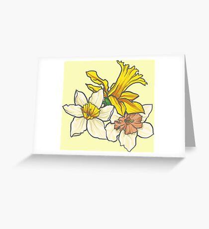 Daffodil - March Birth Flower Greeting Card