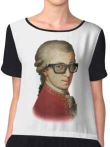 Funny Happy Hipster Mozart Chiffon Top