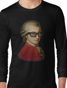 Funny Happy Hipster Mozart Long Sleeve T-Shirt