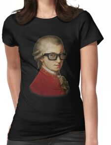 Funny Happy Hipster Mozart Womens Fitted T-Shirt