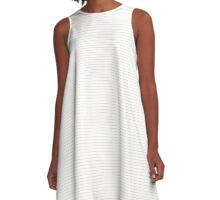 Bridal Blush Stripes A-Line Dress