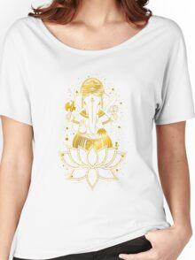 Golden Ganesha Women's Relaxed Fit T-Shirt