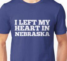 I Left My Heart In Nebraska Love Native Homesick T-Shirt Unisex T-Shirt