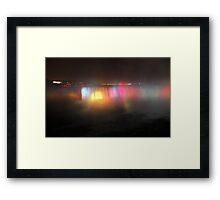 Night Time Niagra Framed Print