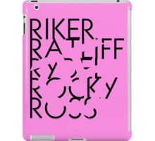 R5 With Invisible Logo Cut Out iPad Case/Skin