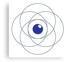 Erudite Eye - Blue Canvas Print