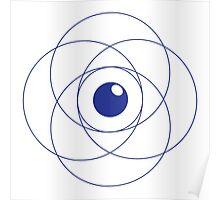 Erudite Eye - Blue Poster