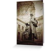Governor Statue Greeting Card