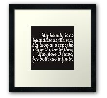 Both are infinite Framed Print