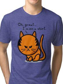 Grumpy cat on shirt Tri-blend T-Shirt