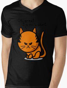Grumpy cat on shirt Mens V-Neck T-Shirt