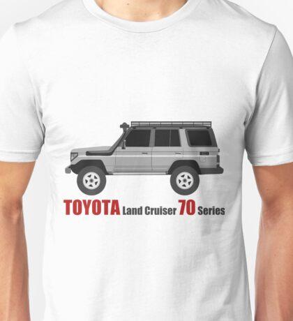 TOYOTA Land Cruiser 70 Series HZJ77 (side) (machito) Unisex T-Shirt