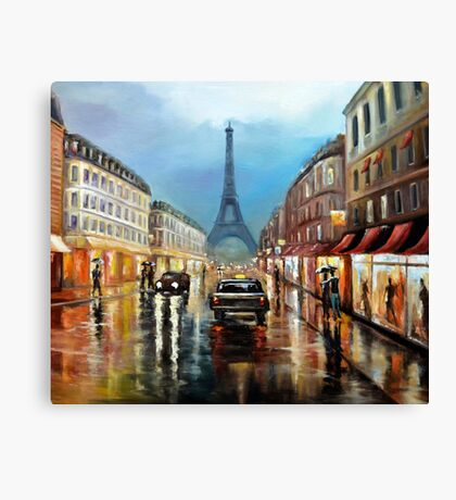 Rainy Paris Canvas Print