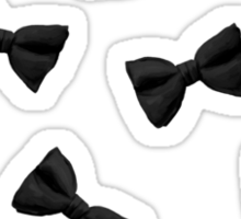 Scattered Bow Ties- Black Sticker
