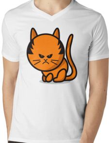 A grumpy cat Mens V-Neck T-Shirt