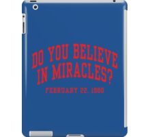Do You Believe In Miracles? iPad Case/Skin