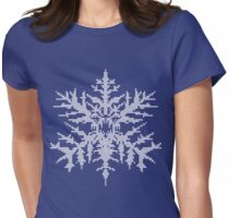 D.W. Evil Snowflake - Knitted Womens Fitted T-Shirt