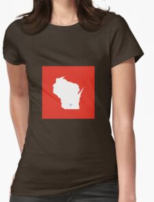 Wisconsin Love Womens Fitted T-Shirt