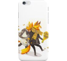 Sunflower Foxes iPhone Case/Skin
