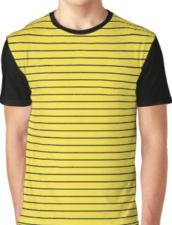 Buttercup and Black Stripes Graphic T-Shirt