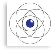 Erudite Eye - Black & Blue Canvas Print