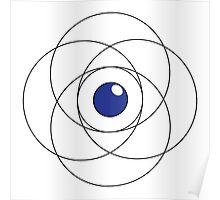 Erudite Eye - Black & Blue Poster