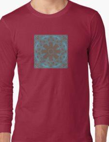 Blue pattern Long Sleeve T-Shirt