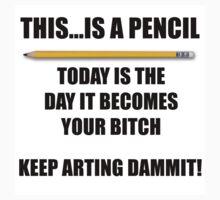 Keep Arting Dammit! Sticker by jimkyleart
