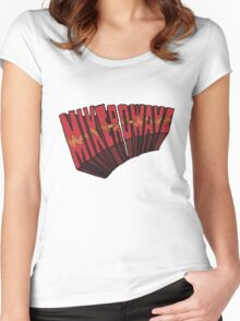 // Mike-Ro-Wave // Don't Stop Heroes // Michael // Women's Fitted Scoop T-Shirt
