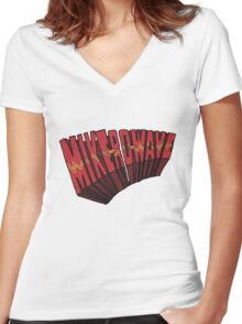// Mike-Ro-Wave // Don't Stop Heroes // Michael // Women's Fitted V-Neck T-Shirt