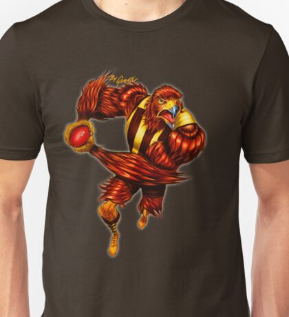 The Raging Hawk by Grange Wallis Unisex T-Shirt