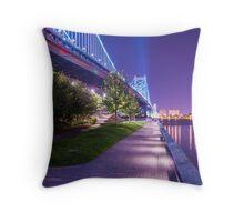 Race Street Pier - Philadelphia, PA Throw Pillow