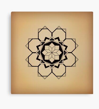 Mandala #205 || Tan Canvas Print