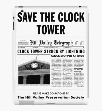 Save the clock tower iPad Case/Skin