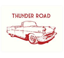 Thunder Road Art Print