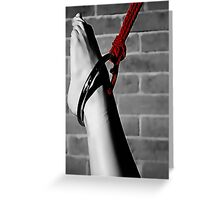 BDSM love - Feet and red Greeting Card