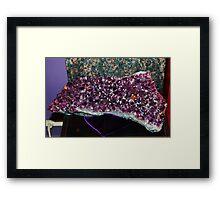 Amethyst at Crystal Matrix Glendale, California Framed Print