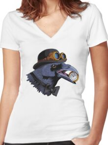 Sir Raven Women's Fitted V-Neck T-Shirt