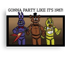 Party Like It's 1987 Canvas Print