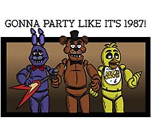 Party Like It's 1987 Photographic Print