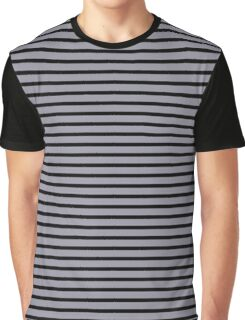 Lilac Gray and Black Stripes Graphic T-Shirt
