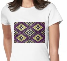 Vintage Lilac Crazy Quilt Womens Fitted T-Shirt