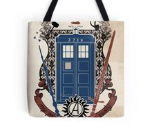 crest of the knight of fandom (a LOT of fandoms actually ;) Tote Bag