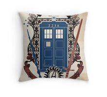 crest of the knight of fandom (a LOT of fandoms actually ;) Throw Pillow