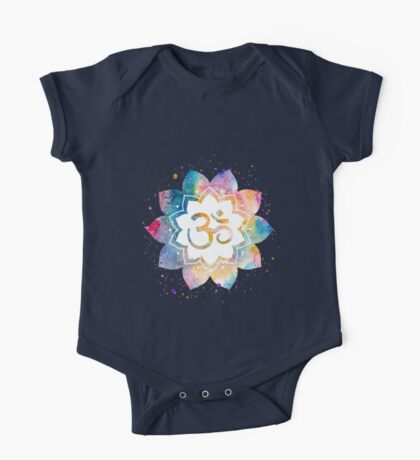 Om Sign Watercolor One Piece - Short Sleeve