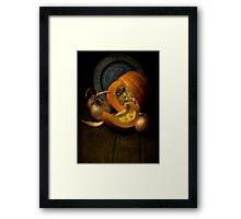 Still life with pumpkin Framed Print